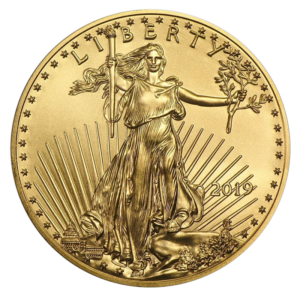 1/10 oz American Eagle Gold Coin (2019)(Front)