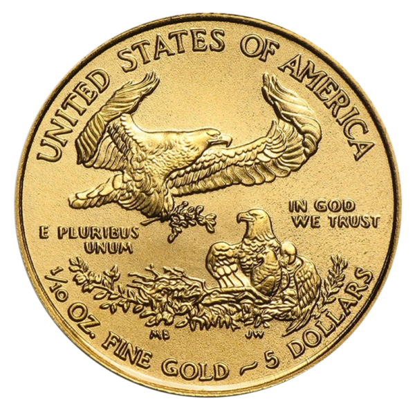 1/10 oz American Eagle Gold Coin (2019)(Back)