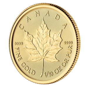 1/10 oz Maple Leaf Gold Coin (2019)(Front)