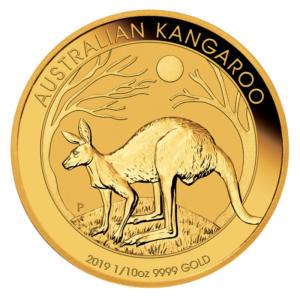 1/10 oz Nugget Kangaroo Gold Coin (2019)(Front)