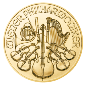 1/10 oz Vienna Philharmonic Gold Coin (2019)(Front)