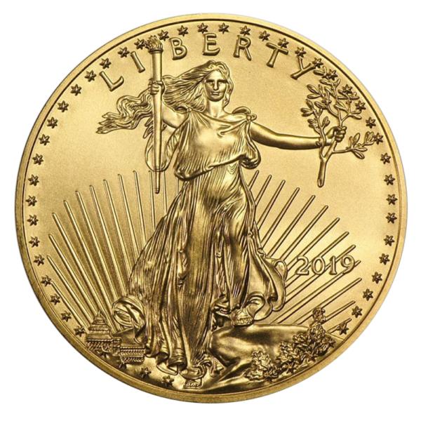 1/2 oz American Eagle Gold Coin (2019)(Front)