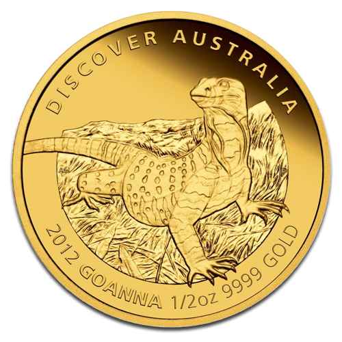 Goanna, Discover Australia, 1/2oz Gold, PROOF, 2012(Back)