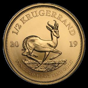 1/2 oz Krugerrand Gold Coin (2019)(Front)