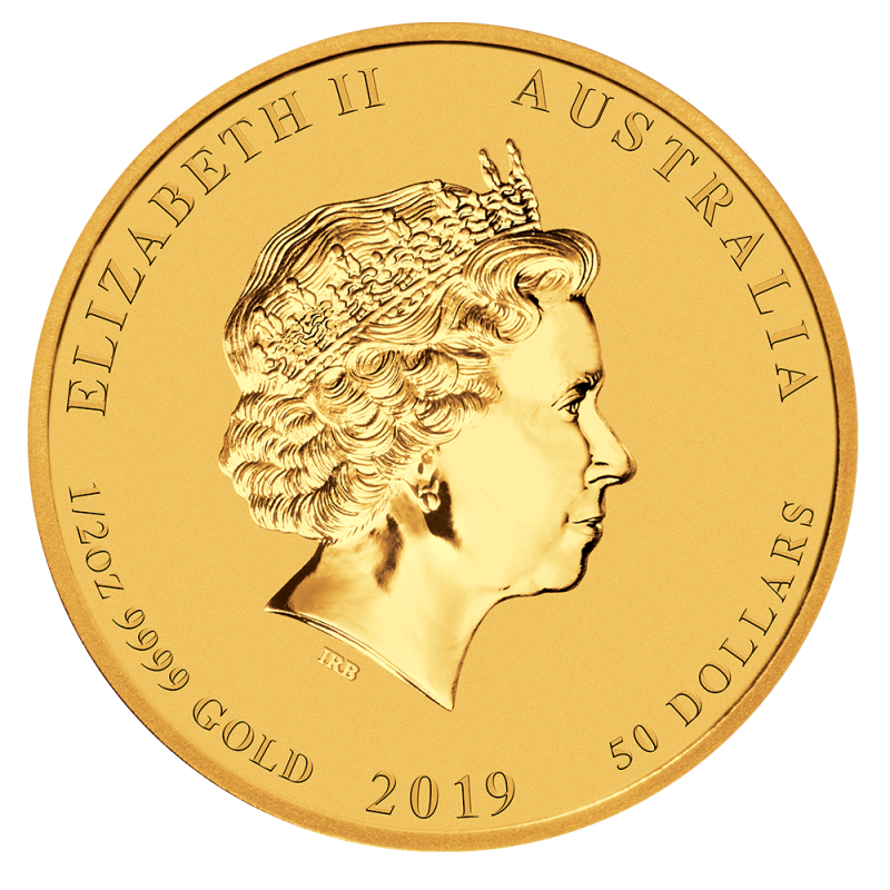 1 2 Oz Lunar Ii Pig Gold Coin 2019