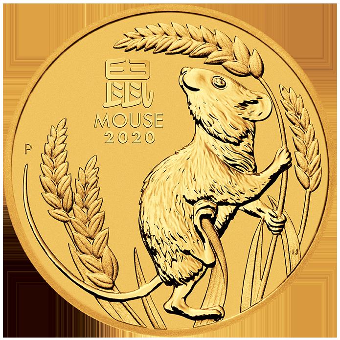1 2 Oz Lunar Iii Mouse Gold Coin 2020