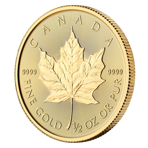1/2 oz Maple Leaf Gold Coin (2019)(Front)