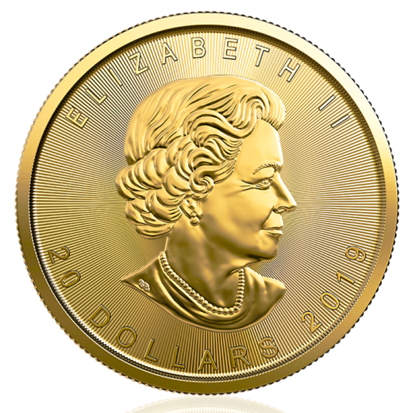 1/2 oz Maple Leaf Gold Coin (2019)(Back)