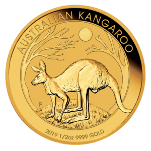 1/2 oz Nugget Kangaroo Gold Coin (2019)(Front)