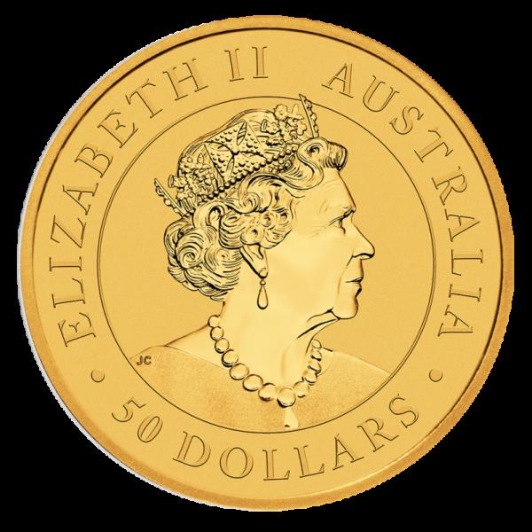 1/2 oz Nugget Kangaroo Gold Coin (2019)(Back)