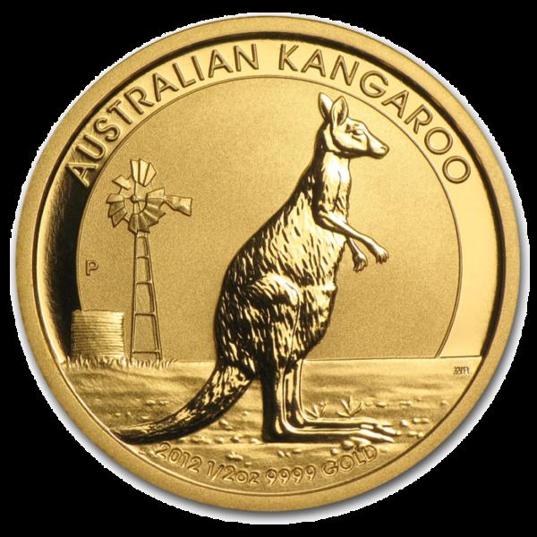 Nugget | Kangaroo, 1/2oz Gold, mixed years(Front)