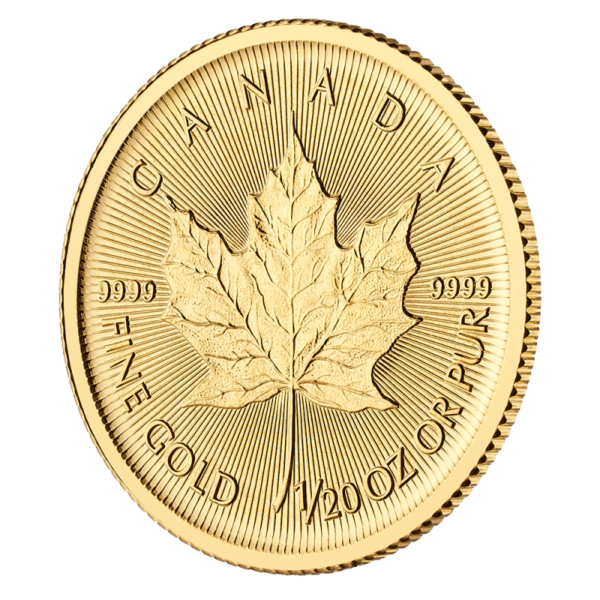 1/20 oz Maple Leaf Gold Coin (2019)(Front)