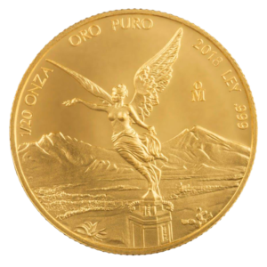 1/20 oz Mexican Libertad Gold Coin (2018)(Front)
