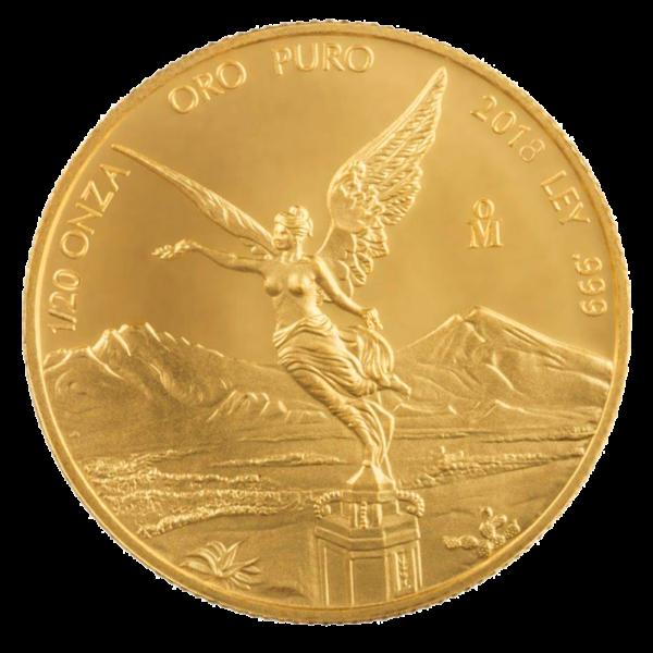 1/20 oz Mexican Libertad Gold Coin (2018)(Front)