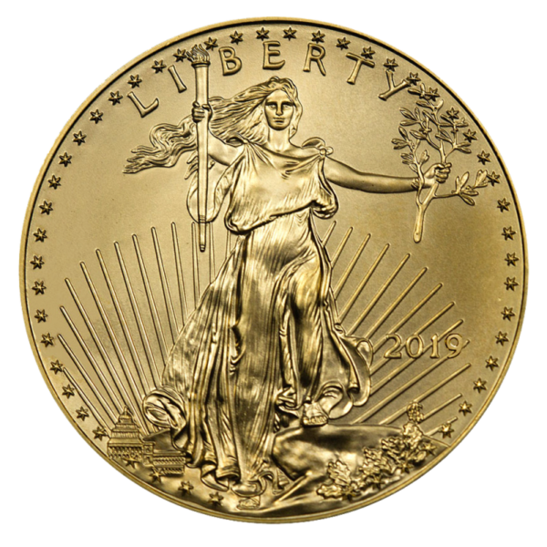 1/4 oz American Eagle Gold Coin (2019)(Front)