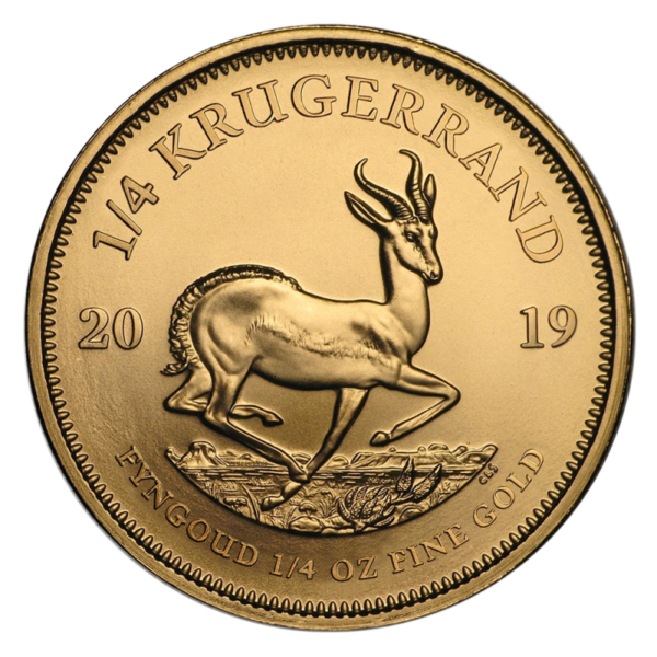 1/4 oz Krugerrand Gold Coin (2019)(Front)