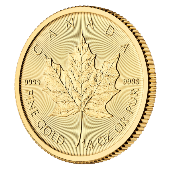 1/4 oz Maple Leaf Gold Coin (2019)(Front)