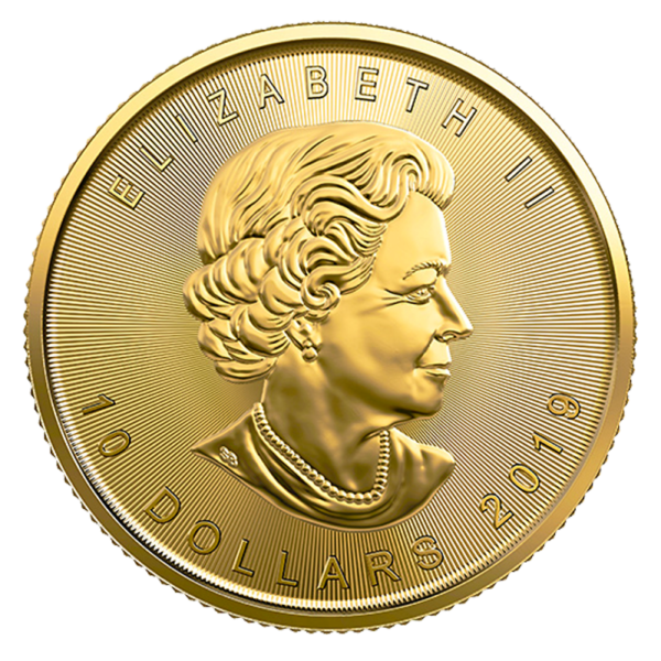 1/4 oz Maple Leaf Gold Coin (2019)(Back)