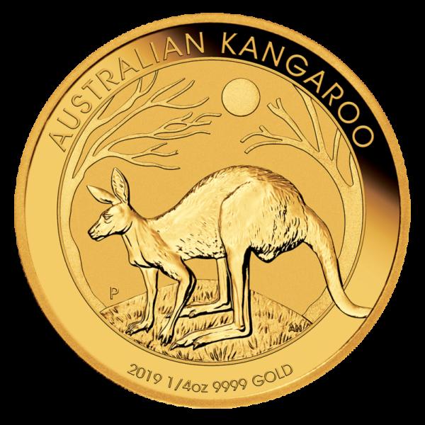 1/4 oz Nugget Kangaroo Gold Coin (2019)(Front)
