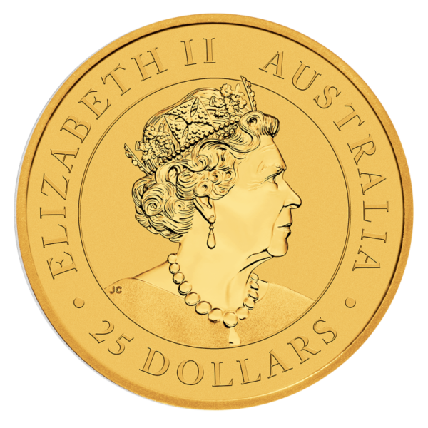 1/4 oz Nugget Kangaroo Gold Coin (2019)(Back)