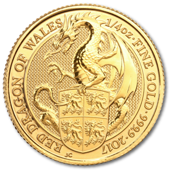 1/4 oz Queen's Beasts Dragon | Gold | 2017(Front)