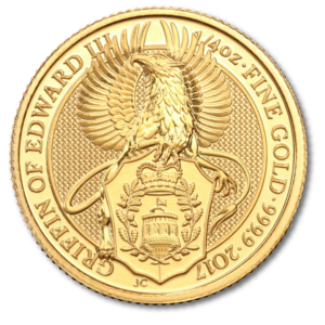 1/4 oz Queen's Beasts Griffin | Gold | 2017(Front)