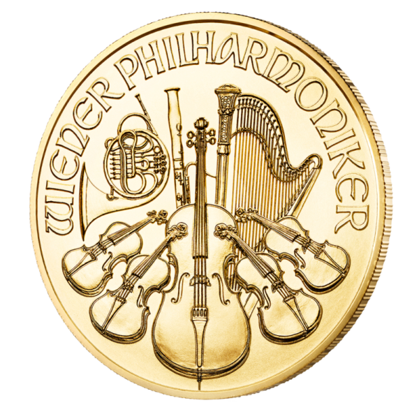 1/4 oz Vienna Philharmonic Gold Coin (2019)(Back)