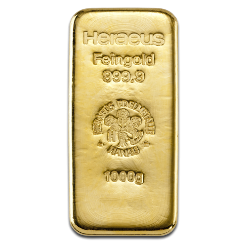 1kg Gold Bullion | Heraeus Gold Bar(Front)