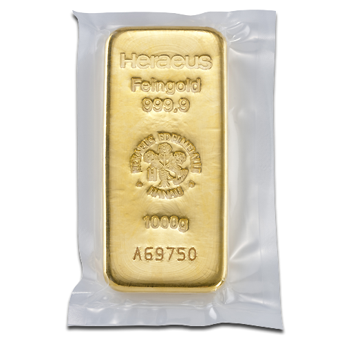 1kg Gold Bullion | Heraeus Gold Bar(Back)