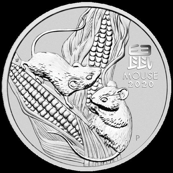 1 Kilo Lunar III Mouse Silver Coin (2020)(Front)
