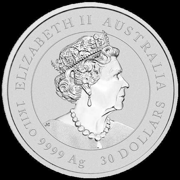 1 Kilo Lunar III Mouse Silver Coin (2020)(Back)