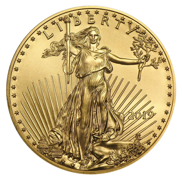 1 oz American Eagle Gold Coin (2019)(Front)