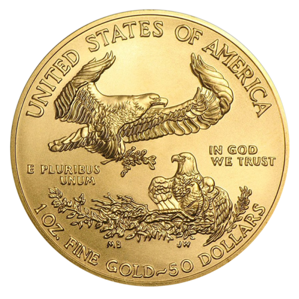 1 oz American Eagle Gold Coin (2019)(Back)