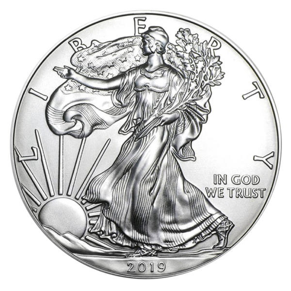 1 oz American Eagle Silver Coin (2019)(Front)