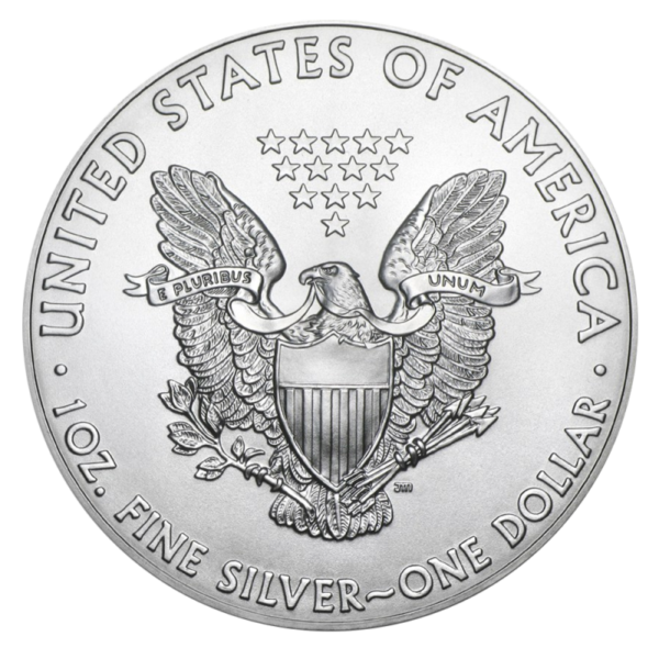 1 oz American Eagle Silver Coin (2019)(Back)