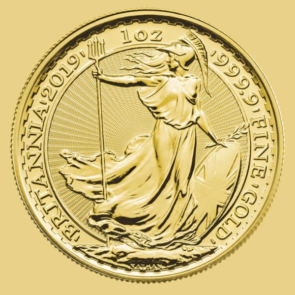 1 oz Britannia Gold Coin (2019)(Front)