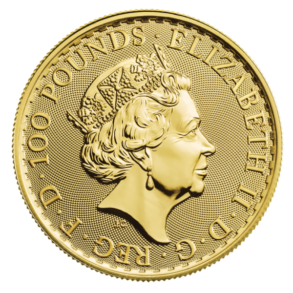 1 oz Britannia Gold Coin (2019)(Back)