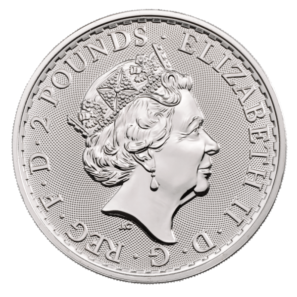 1 oz Britannia Silver Coin (2019)(Back)