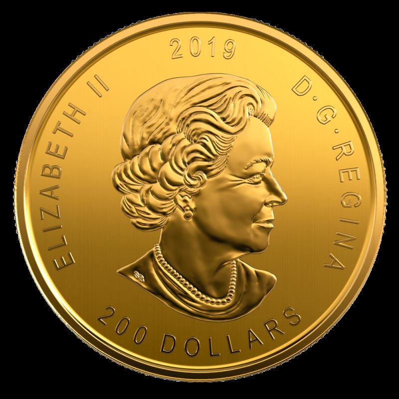 1 Oz Call Of The Wild Gold Moose 99999 Gold Coin 2019 Bitgild