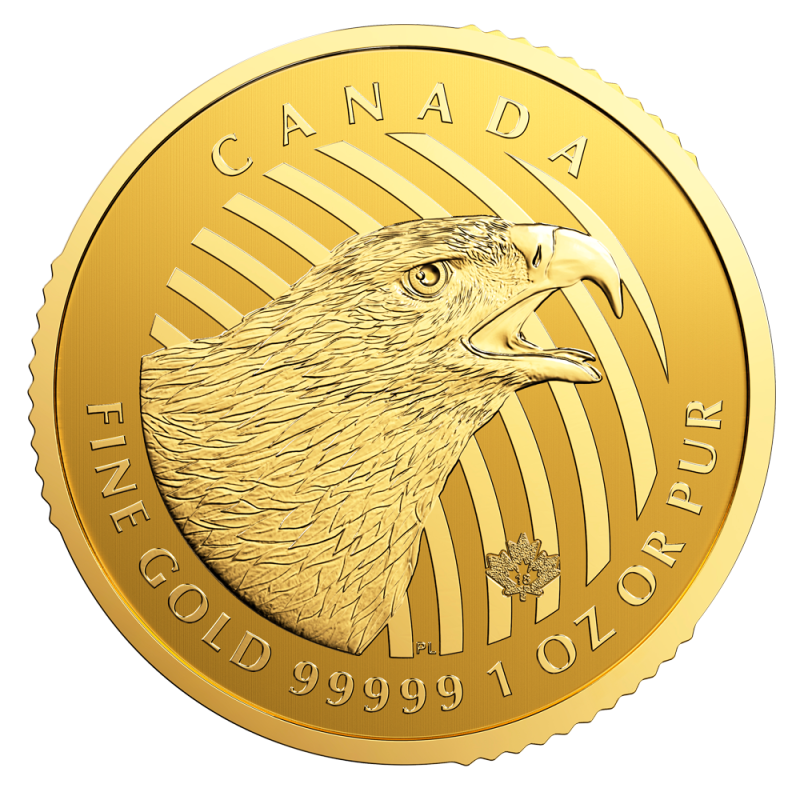 1 Oz Call Of The Wild Golden Eagle 99999 Gold Coin 2018 Bitgild
