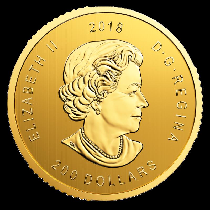 1 Oz Call Of The Wild Golden Eagle 99999 Gold Coin 2018 Bitgild