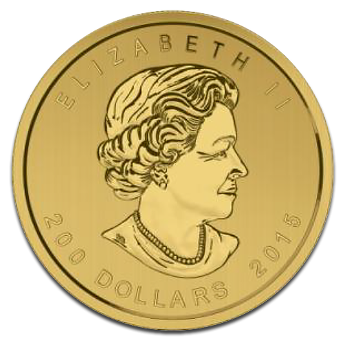 Call of the Wild, Growling Cougar, 200 Dollar, 1oz Gold, 2015(Back)