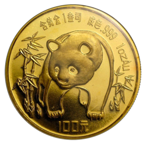 1 oz China Panda   Gold   1986(Front)