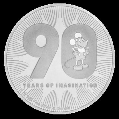 1 oz Disney Mickey Mouse Silver Coin (2018)(Front)