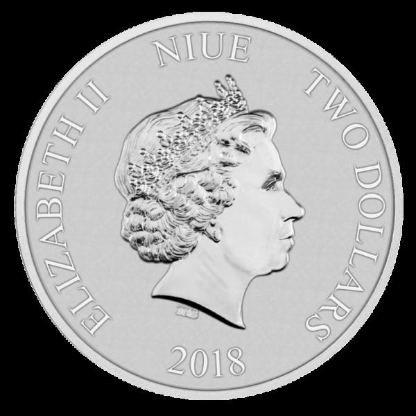 1 oz Disney Mickey Mouse Silver Coin (2018)(Back)
