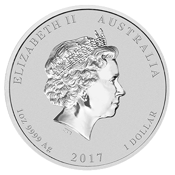 1 oz Dragon and Phoenix Silver Coin (2017)(Back)