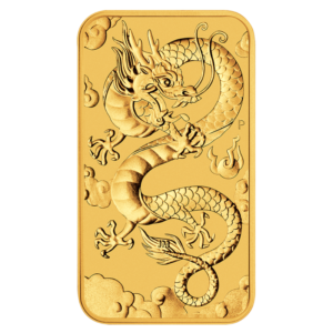 1 oz Dragon Rectangular Gold Coin (2019)(Front)