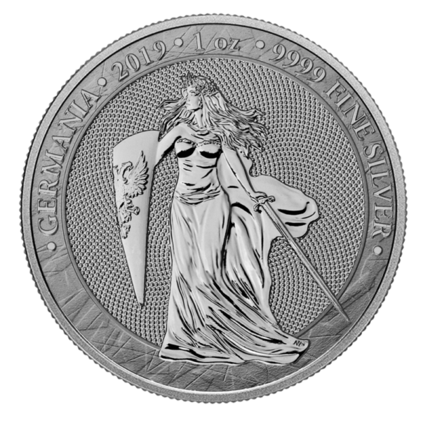1 oz Germania 5 Mark Silver Coin (2019)(Front)