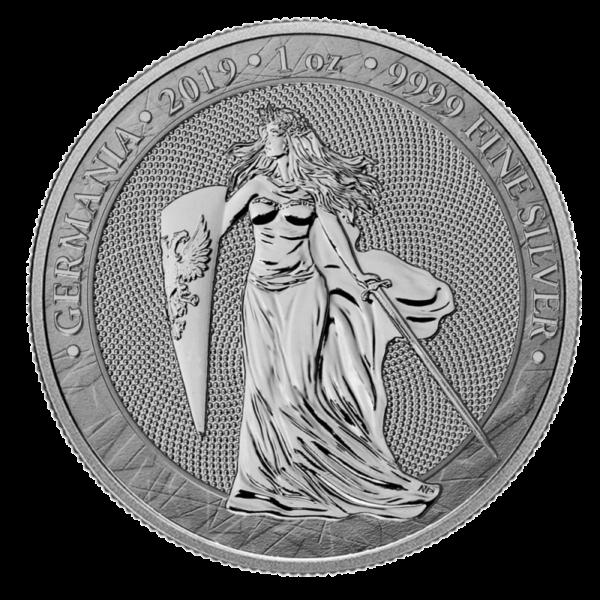 1 oz Germania 5 Mark Silver Coin (2019)(Front)