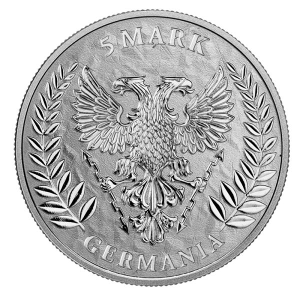 1 oz Germania 5 Mark Silver Coin (2019)(Back)